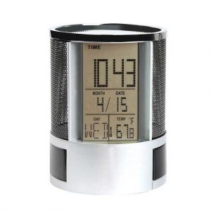 pen holder with clock 1